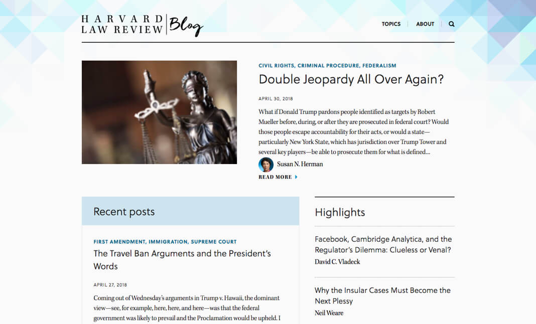 Harvard Law Review website