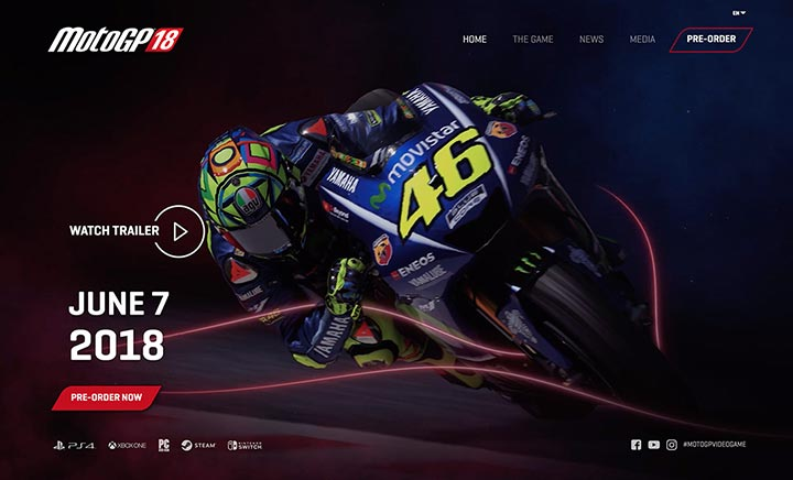 MotoGP 18 website