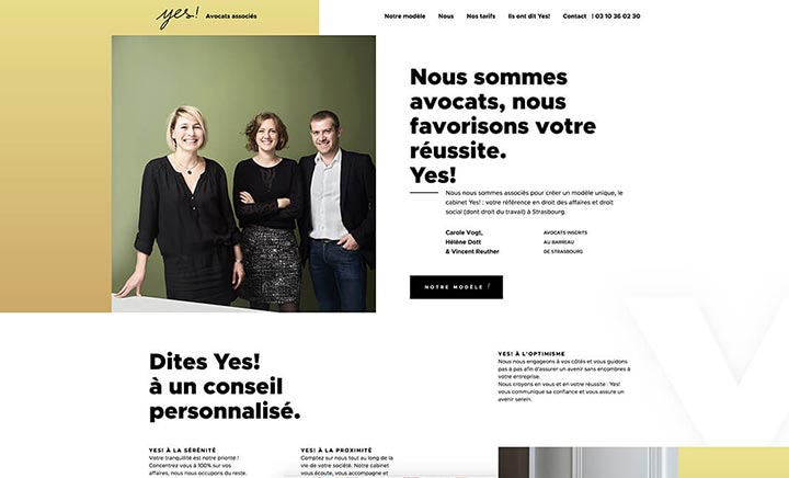 Yes Avocats associés website