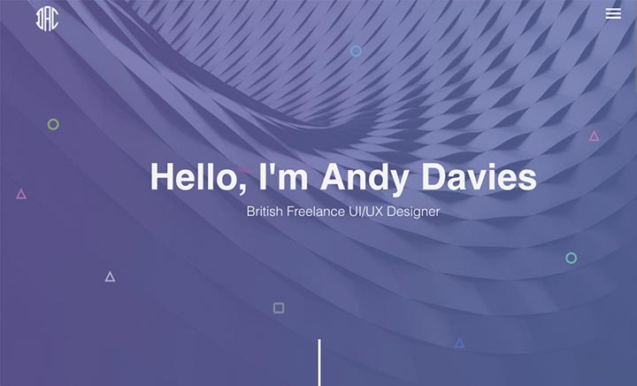 Andy Davies - Portfolio website