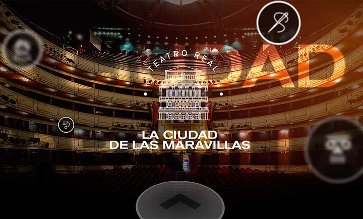 Teatro Real: The City of Wonders website