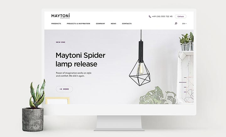 MAYTONI website