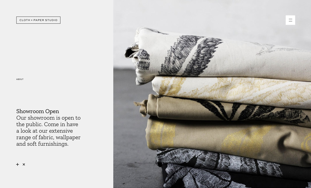 Cloth and Paper Studio website