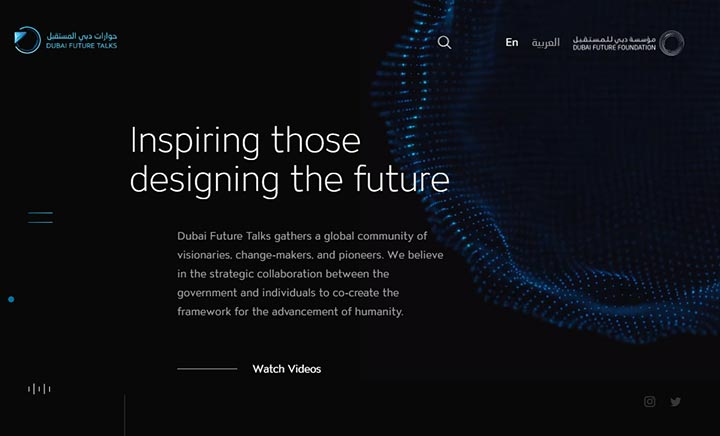 Dubai Future Talks website