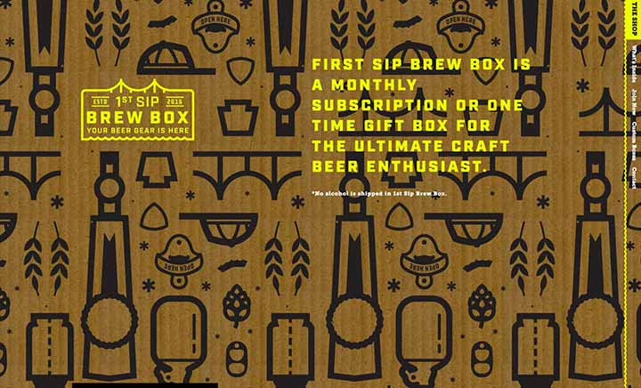 First Sip Brew Box website