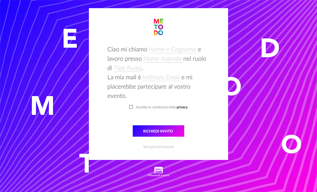 MeToDo - Subscription Form website