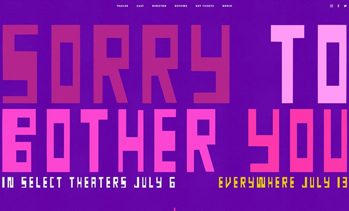 Sorry To Bother You website