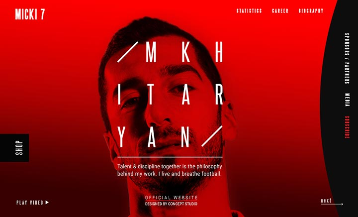 Henrikh Mkhitaryan website