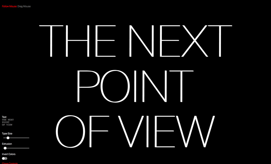 The Next Point Of View website