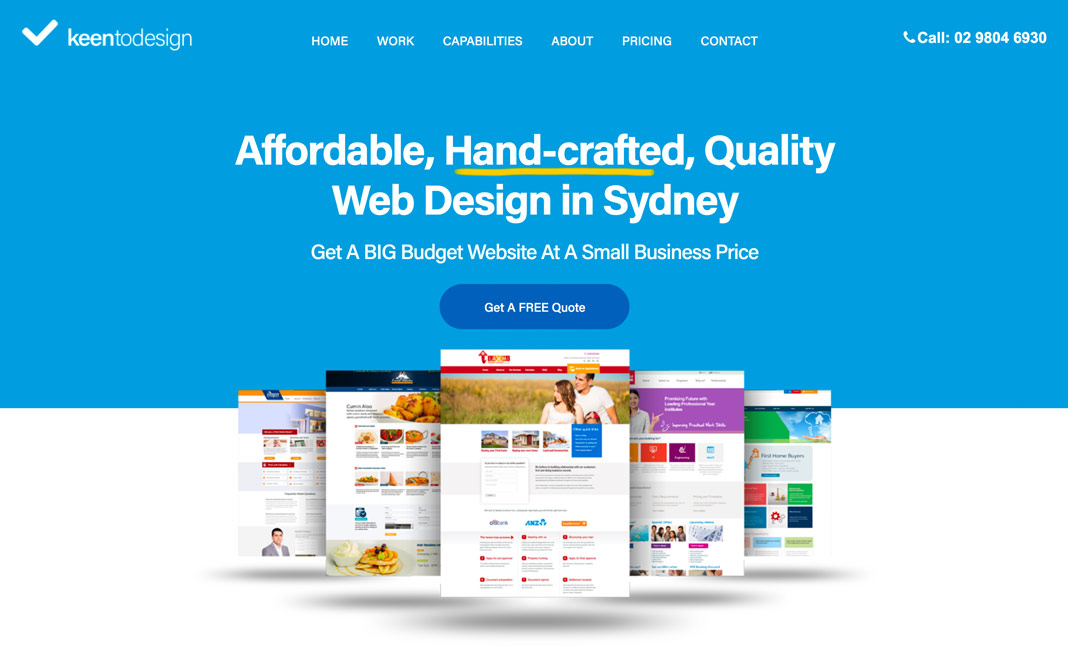 Keen to Design website