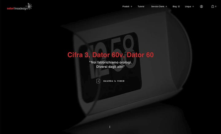 Store Solari Linea Design website