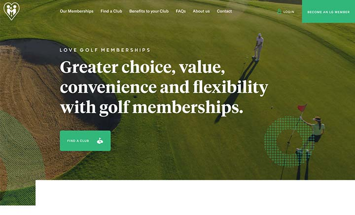 Love Golf Memberships website