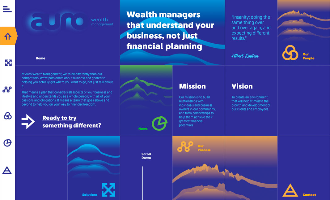 Auro Wealth Management website