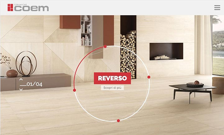 Ceramiche Coem website