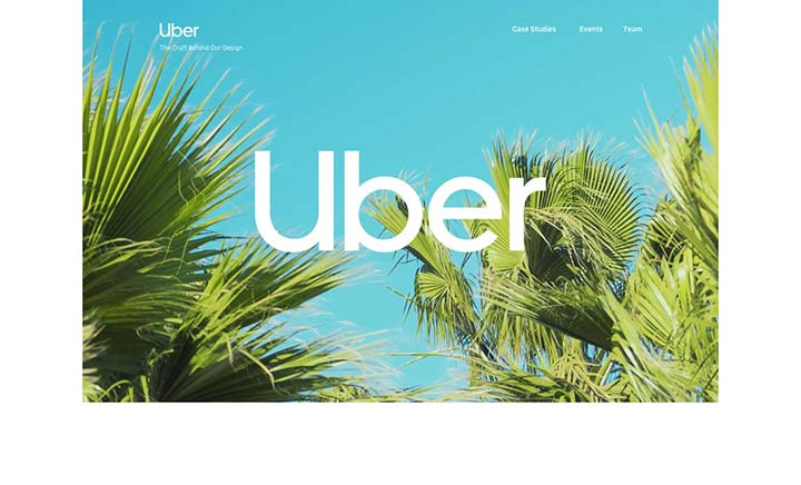 Uber 2018 Rebrand Case Study website