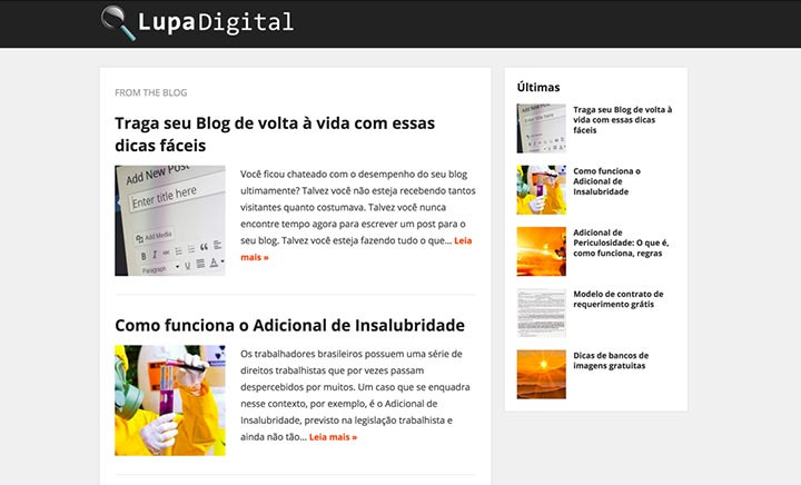 Lupa Digital website