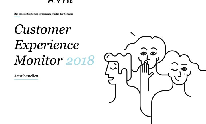 Customer Experience Monitor 2018 website