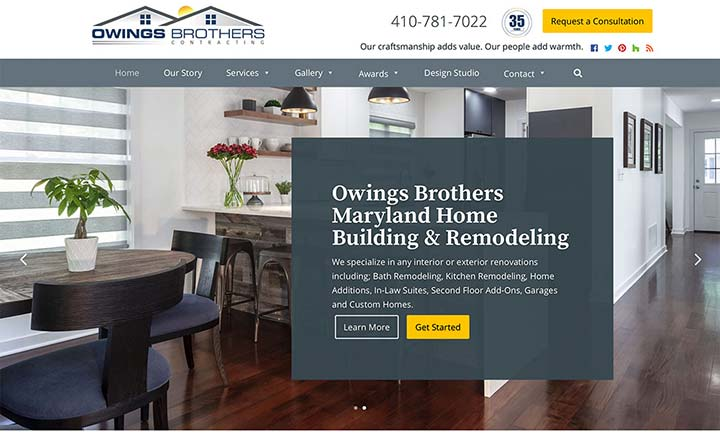 Owings Brothers Contracting website