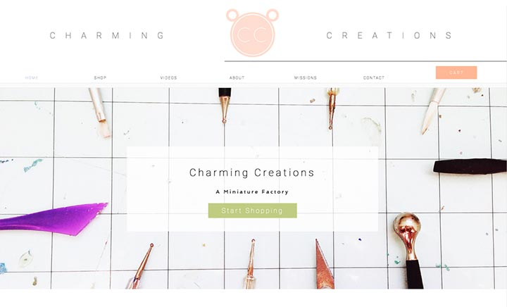 Charming Creations website