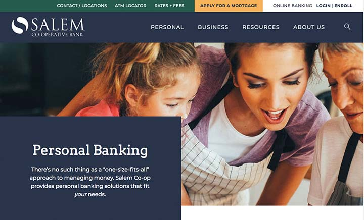 Salem Co-Opertive Bank website