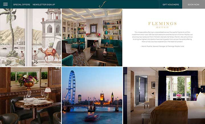 Flemings Mayfair website