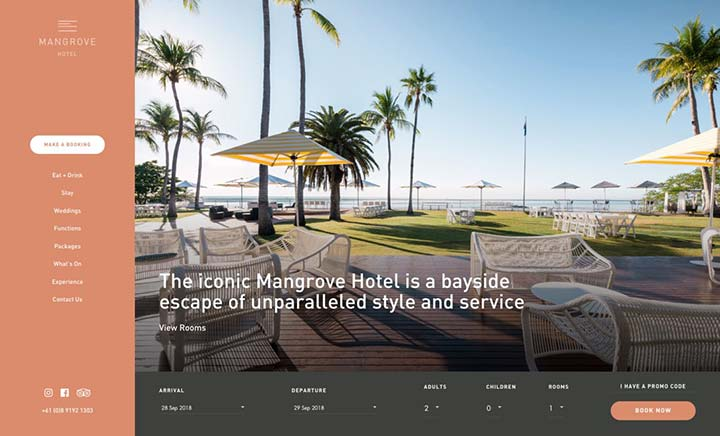 Mangrove Hotel website