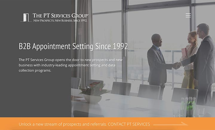 The PT Services Group website