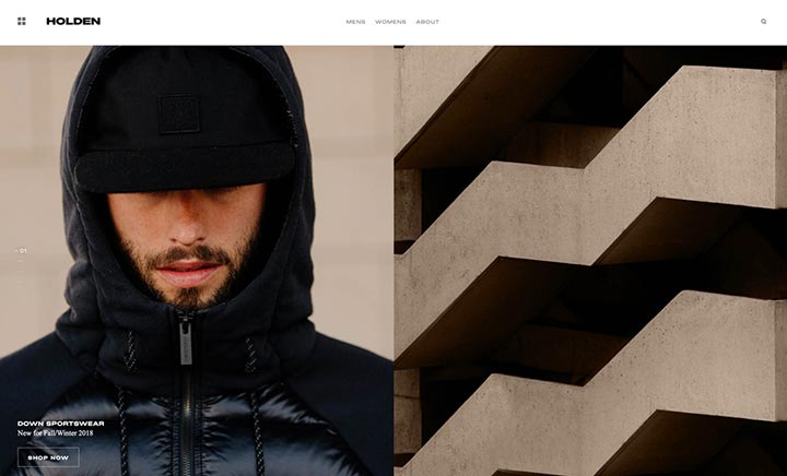 Holden Outerwear website