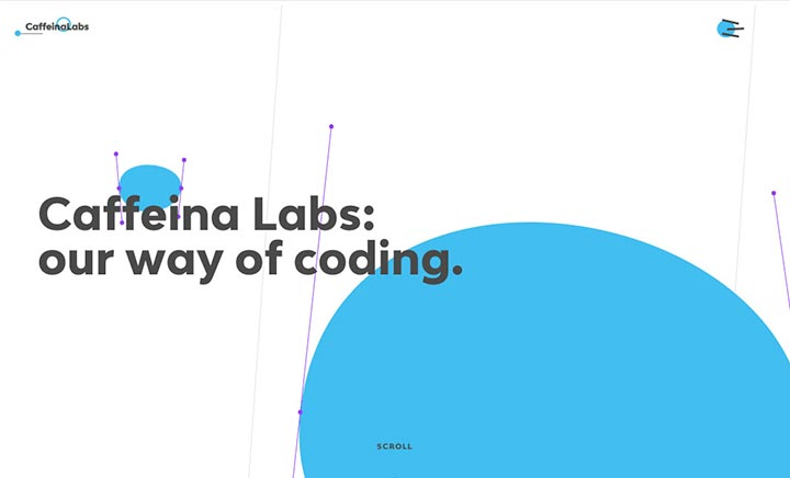 Caffeina Labs website