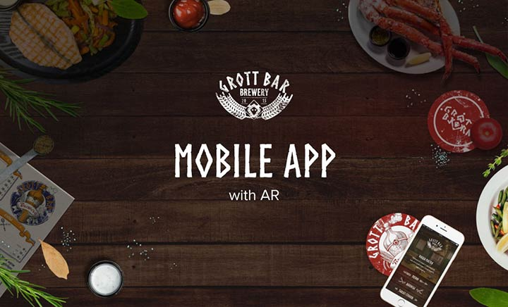Grott Bar: mobile app with AR