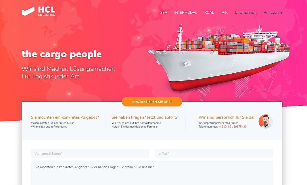 HCL Logistics - the cargo people website