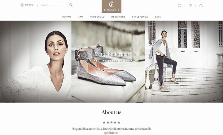 Carinelli Shop website
