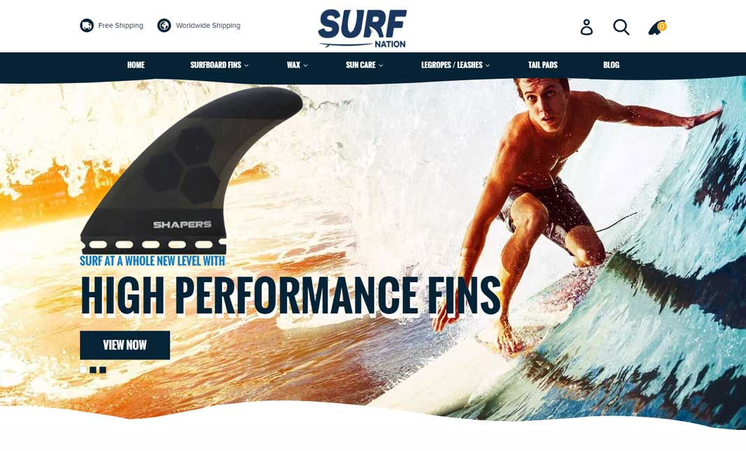 Surf Nation website