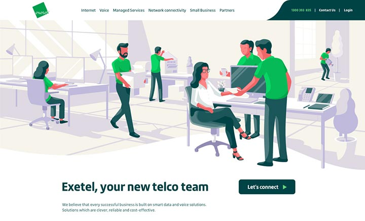 Exetel Business website