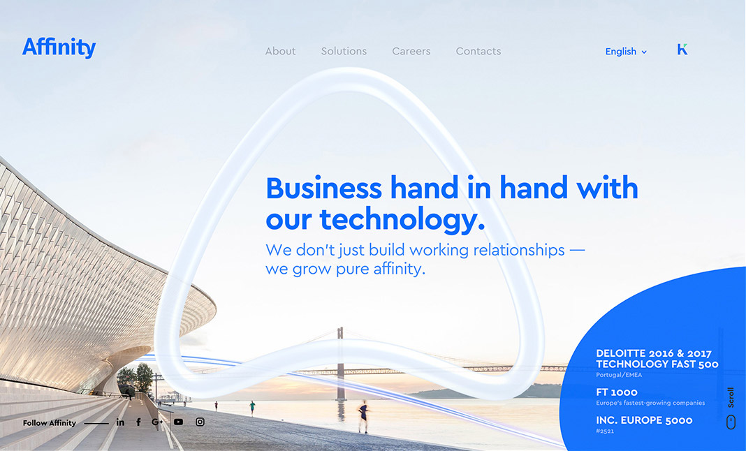 Affinity Portugal website