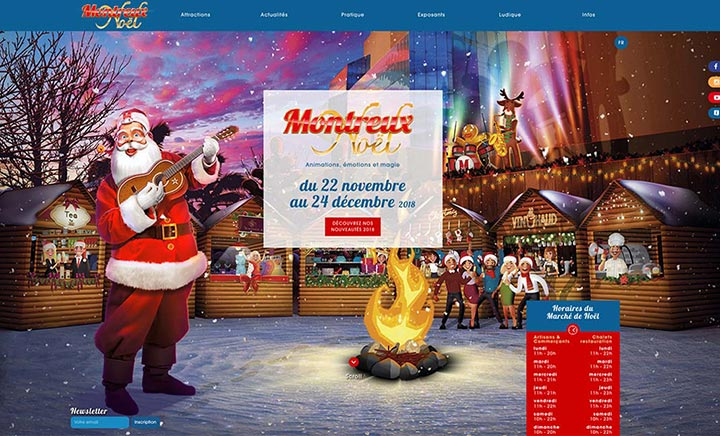 Montreux Noël website