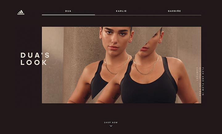 adidas Women - Here to Create website