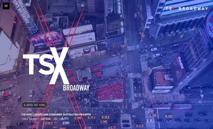 TSX Broadway website