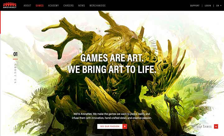 ArenaNet website