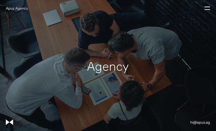Apus Agency website
