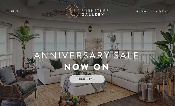 The Furniture Gallery website