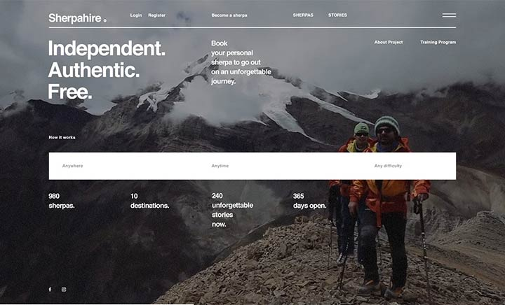 Sherpahire website