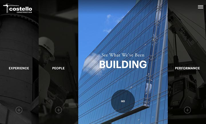 Costello Construction website