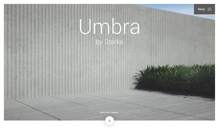 Umbra by Starka website