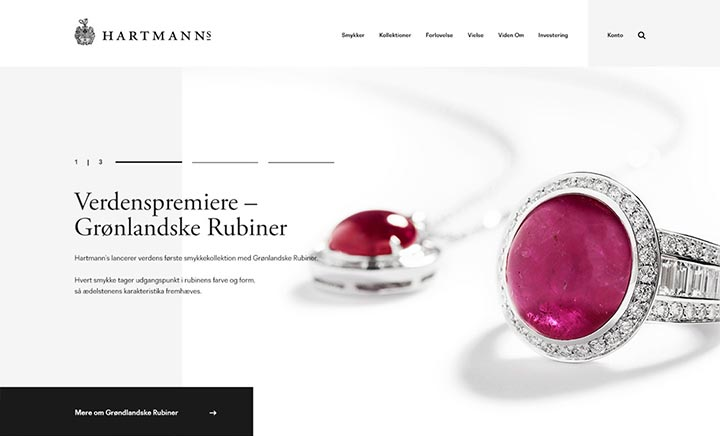 Hartmann's Jewellery website