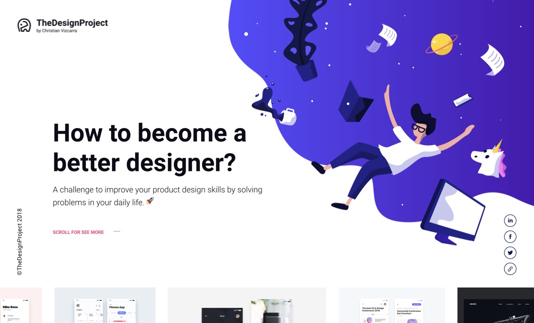 The Design Project website