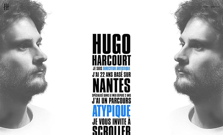 Hugo Harcourt Portfolio website