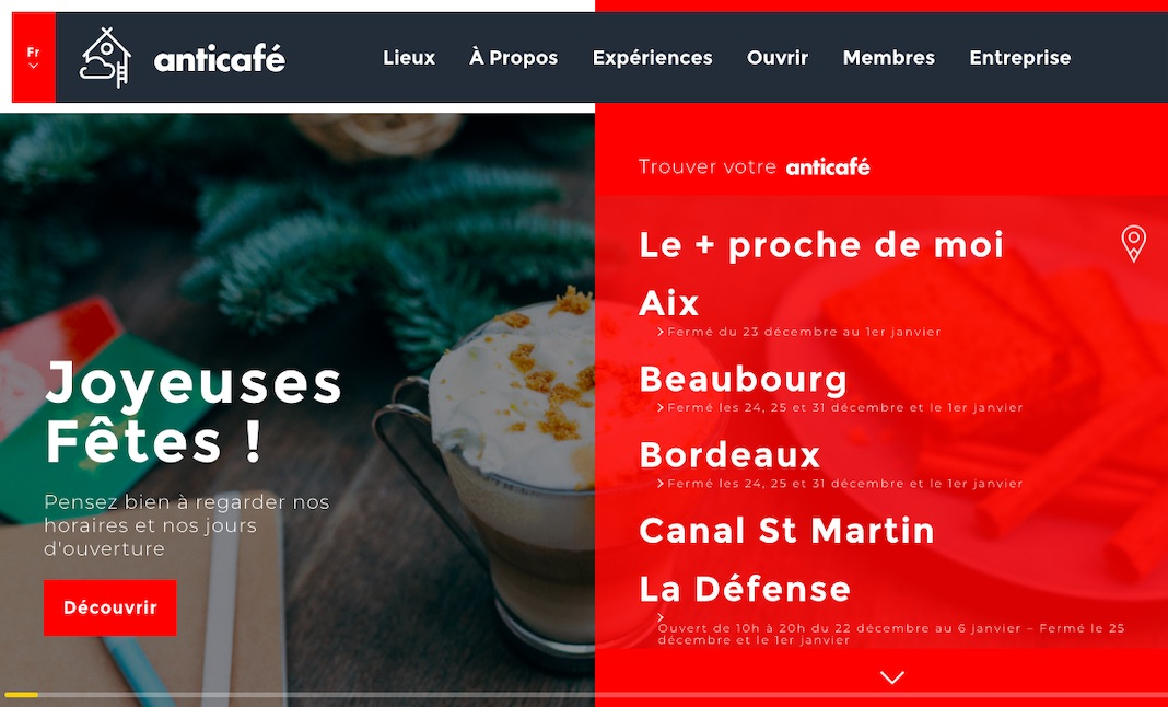Anticafé website