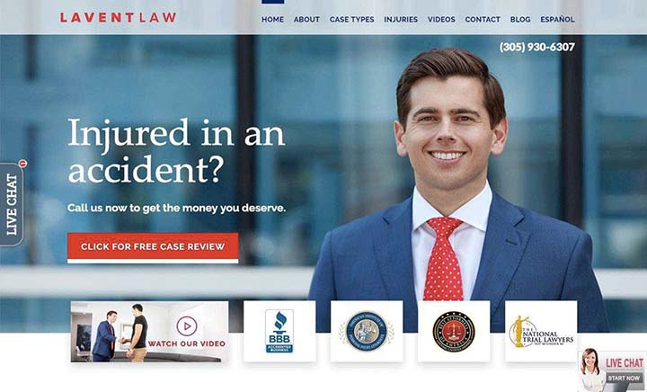 Lavent Law website