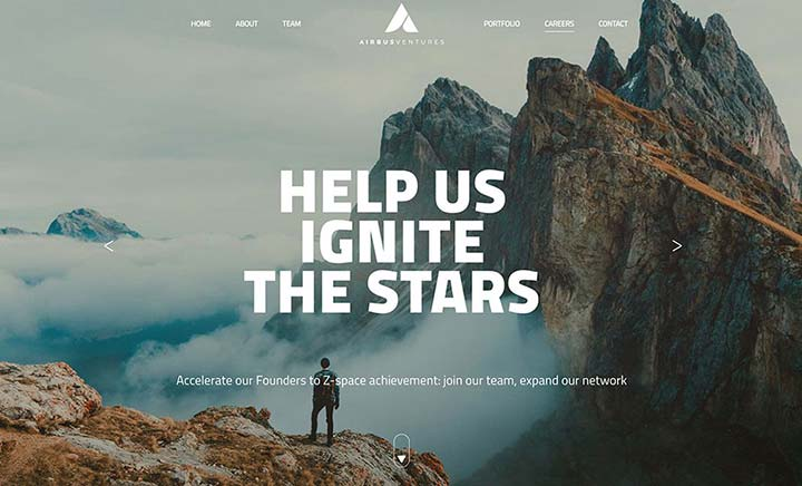 Airbus Ventures website